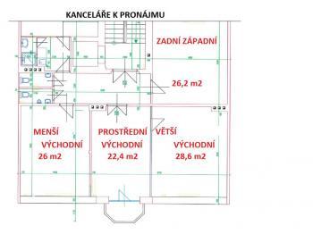 Pronájem kancelářských prostor 21 m², Hradec Králové