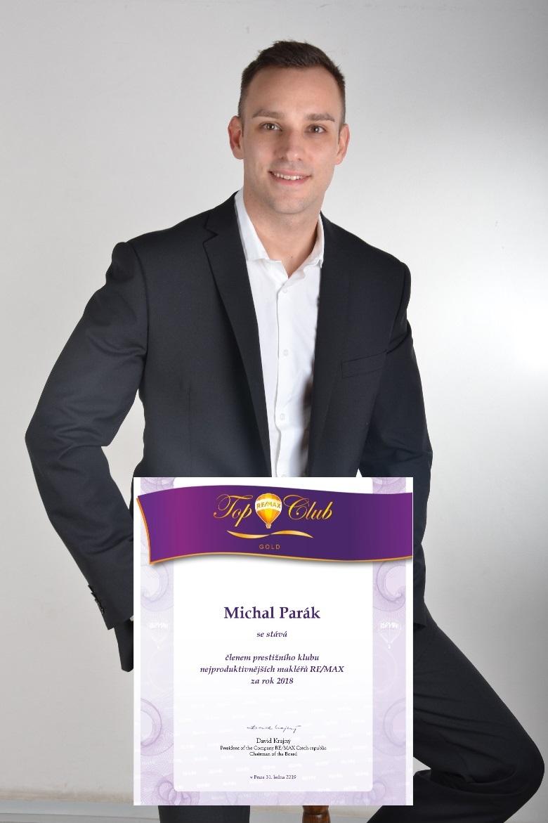 Michal Parák - nejlepší makléř kanceláře za rok 2018