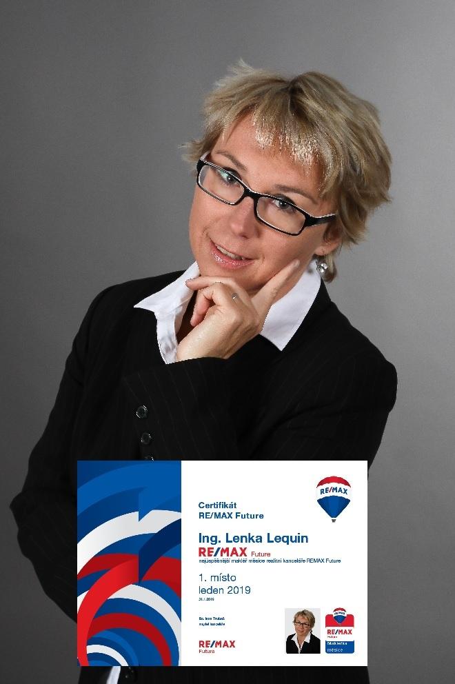Ing. Lenka Lequin - nejlepší makléřka kanceláře za leden 2019