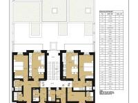 Plánek 4. NP (Prodej bytu 1+kk v osobním vlastnictví 42 m², Praha 7 - Bubeneč)