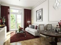 Detail pokoje (Prodej bytu 1+kk v osobním vlastnictví 42 m², Praha 7 - Bubeneč)