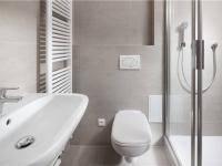 Koupelna (Prodej bytu 1+kk v osobním vlastnictví 42 m², Praha 7 - Bubeneč)