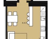 Plánek bytu č. 22 (Prodej bytu 1+kk v osobním vlastnictví 42 m², Praha 7 - Bubeneč)