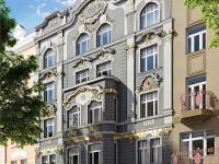 Průčelí domu (Prodej bytu 1+kk v osobním vlastnictví 42 m², Praha 7 - Bubeneč)
