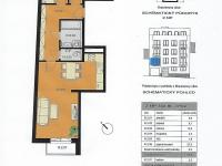 Plánek bytu (Prodej bytu 3+kk v osobním vlastnictví 68 m², Praha 8 - Libeň)