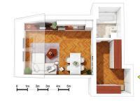 Prodej bytu 1+kk v osobním vlastnictví, 46 m2, Praha 7 - Bubeneč