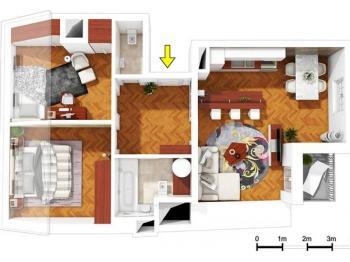Plánek bytu 3+kk č. 34 - Prodej bytu 3+kk v osobním vlastnictví 90 m², Praha 7 - Bubeneč