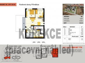 Prodej bytu 3+kk v osobním vlastnictví, 79 m2, Znojmo