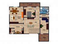 půdorys  (Pronájem bytu 3+1 v osobním vlastnictví 125 m², Praha 5 - Hlubočepy)