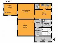 1NP (Prodej domu v osobním vlastnictví 221 m², Praha 4 - Šeberov)