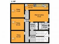 2NP (Prodej domu v osobním vlastnictví 221 m², Praha 4 - Šeberov)