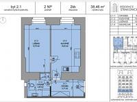 Prodej bytu 2+kk v osobním vlastnictví 38 m², Praha 5 - Smíchov