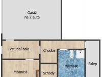 Půdorys sklepní prostory - Prodej domu v osobním vlastnictví 560 m², Zlosyň