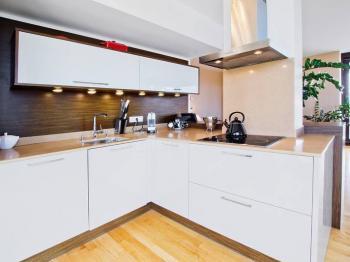 Kuchyňský kout - Pronájem bytu 3+kk v osobním vlastnictví 96 m², Praha 3 - Žižkov