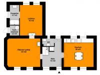 přízemí - Prodej domu v osobním vlastnictví 131 m², Všenory
