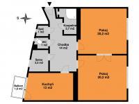 Prodej bytu 2+1 v osobním vlastnictví, 75 m2, Praha 1 - Staré Město