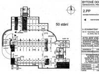Plánek podlaží - Prodej garážového stání 38 m², Praha 5 - Košíře
