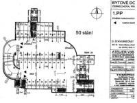Plánek podlaží - Prodej garážového stání 15 m², Praha 5 - Košíře