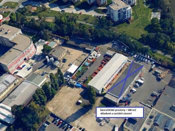 Pronájem komerčního prostoru (skladovací), 493 m2, Praha 9 - Hloubětín