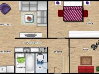 Půdorys byt 3+1 Židlochovice (Prodej bytu 3+1 v osobním vlastnictví 75 m², Židlochovice)