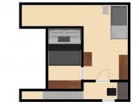 Horní patro (Prodej bytu 2+kk v osobním vlastnictví 50 m², Brno)