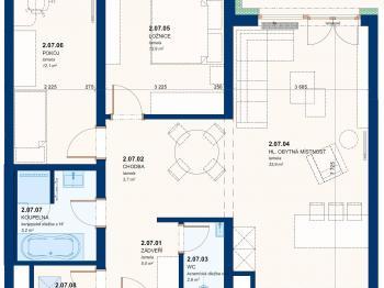 Prodej bytu 3+kk v osobním vlastnictví 74 m², Zlín
