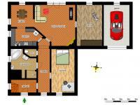 schéma přízemí (Prodej domu v osobním vlastnictví 218 m², Doksy)