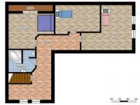 schéma podkroví (Prodej domu v osobním vlastnictví 218 m², Doksy)