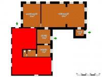 schéma prostor k pronájmu (Pronájem komerčního objektu 93 m², Nový Bor)