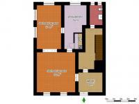 schéma přízemí - Prodej domu v osobním vlastnictví 250 m², Hamr na Jezeře