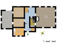 schéma přízemí - Prodej domu v osobním vlastnictví 250 m², Mařenice