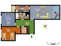 schéma bytu (Prodej bytu 3+1 v osobním vlastnictví 77 m², Česká Lípa)
