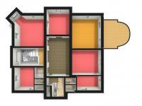 schéma 2.NP a poloha kanceláře č.203 (Pronájem komerčního objektu 38 m², Česká Lípa)