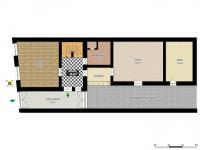 schéma přízemí (Prodej domu v osobním vlastnictví 160 m², Kravaře)