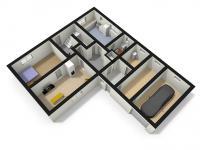 schéma přízemí (Prodej domu v osobním vlastnictví 220 m², Mařenice)