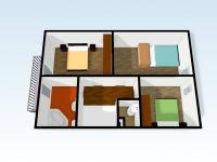 Pohled 3D - poschodí domu (Prodej domu v osobním vlastnictví 110 m², Veltrusy)