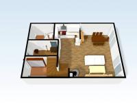 Pohled 3D přízemí domu (Prodej domu v osobním vlastnictví 110 m², Veltrusy)