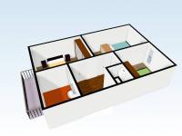 Poschodí domu (Prodej domu v osobním vlastnictví 110 m², Veltrusy)