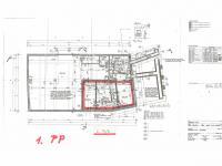 půdorys suterén - Pronájem obchodních prostor 211 m², Liberec