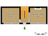 schéma přízemí (Prodej penzionu 145 m², Doksy)