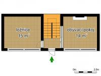 schéma přízemí (Prodej domu v osobním vlastnictví 145 m², Doksy)