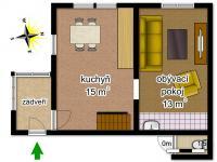 schéma chaty - Prodej chaty / chalupy 38 m², Skalice u České Lípy