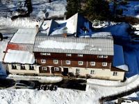 Z ptačí perspektivy - Prodej penzionu 480 m², Mařenice