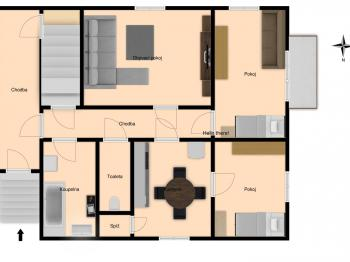 Půdorys 1.NP - Prodej domu v osobním vlastnictví 189 m², Česká Lípa