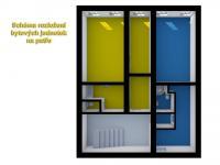 schéma rozložení bytových jednotek - Prodej nájemního domu 275 m², Česká Lípa