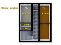 schéma přízemí - Prodej nájemního domu 275 m², Česká Lípa