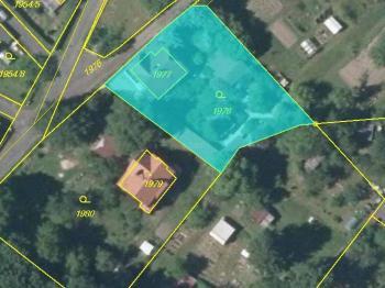 Katastrální snímek pozemku - Prodej domu v osobním vlastnictví 230 m², Varnsdorf