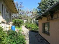 Pohled na zahradu od dílny - Prodej domu v osobním vlastnictví 230 m², Varnsdorf