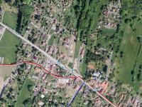 Vesnice z ptačí perspektivy - Prodej pozemku 1001 m², Kamenice