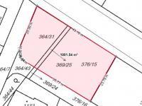 Výřez z katastrální mapy - Prodej pozemku 1001 m², Kamenice